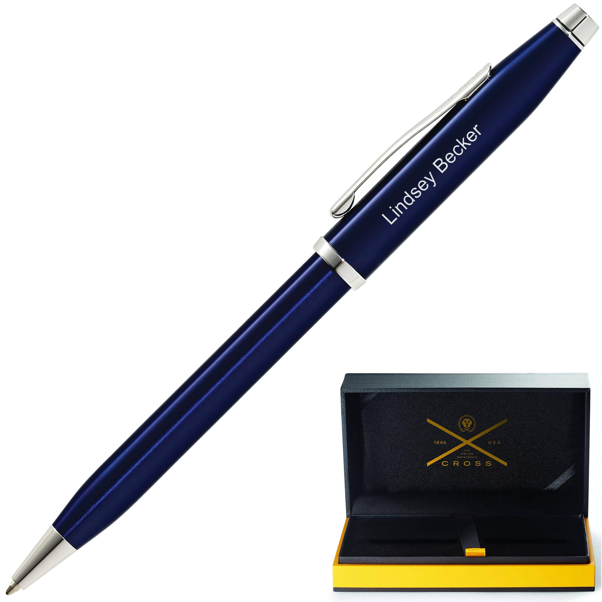 Personalized Cross Century II Translucent Blue Rollerball Pen AT0085-103. Custom Engraving Included!