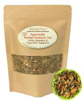 Ayurvedic Anti-Inflammatory tea - Organic loose leaf Turmeric Tea with Ginger, Lemongrass and Licorice (loose tea, 4 oz.)