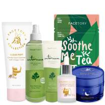 FaceTory Facial Spa Skin Care Set for Oily Skin - Hydrating, Calming, Clarifying