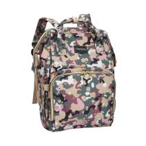 Camo Diaper Bag Backpack for Women Men Large