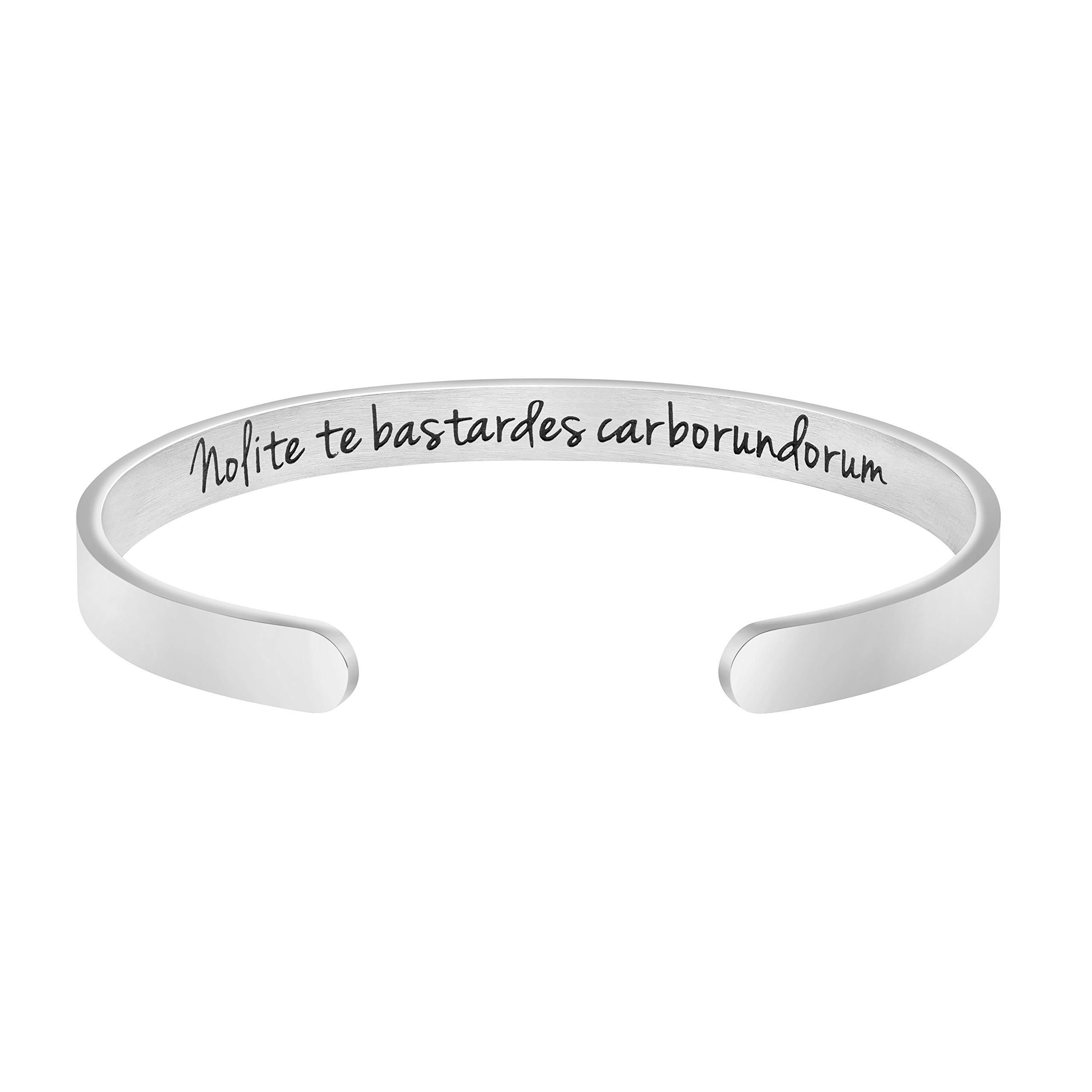 Joycuff Inspirational Mantra Cuff Bracelets for Women Friend Encouragement Gift for Her Personalized Birthday Jewelry