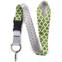 Buttonsmith Lattice Premium Lanyard - with Buckle and Flat Ring - Made in The USA