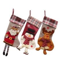 Shmily Girl Christmas Stockings 3 Pcs Set Big Size Classic Toys Stockings (Style 1)