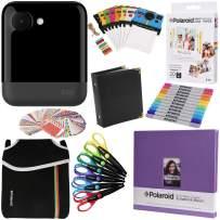 Polaroid POP Instant Camera (Black) Gift Bundle + Zink Paper (20 Sheets) + 8x8 Cloth Scrapbook + Pouch + 6 Edged Scissors + 100 Sticker Border Frames + Markers + Hanging Frames + Album