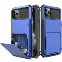 Yunerz Compatible iPhone 11 Pro Max Case, iPhone 11 Pro Max Wallet Dual Layer Protective Case with Card Holder Slot for iPhone 11 Pro Max 2019 6.5inch(blue)