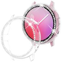 Goton Compatible Samsung Galaxy Watch Active 2 Case Bling 40mm 2019 Release, Women Girl Crystal Diamond Watch Bezel Bumper Protector Shiny Watch Face Case Cover for Samsung Active2 40mm (Clear, 40mm)