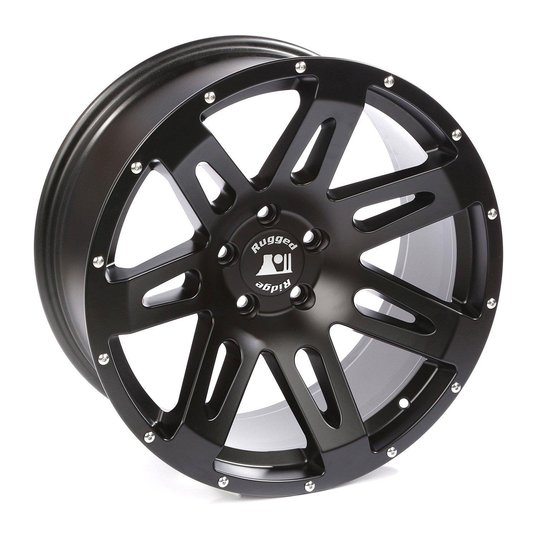 XHD Wheel, 20x9, Black Satin; 07-19 Jeep Wrangler/Gladiator