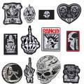 Choco Mocha 12PCS Skull Patches for Jackets Men Adult Iron On Decals Skull Patch for Clothing Embroidered Decorative Sewing Appliques for Clothes Hat Jeans, Bat Skull