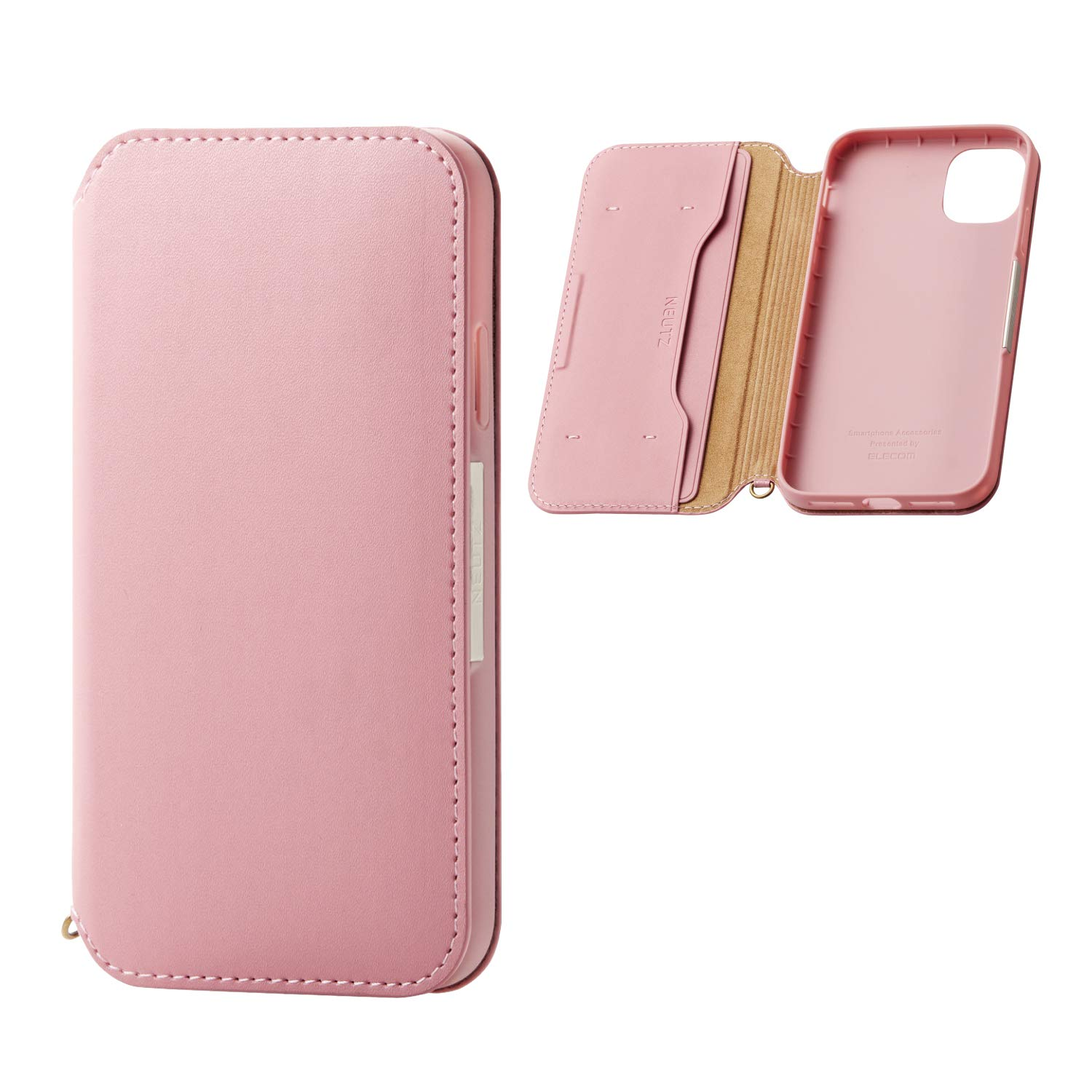 ELECOM-Japan Brand- Smartphone PU Leather Case Magnetic Type/Compatible with iPhone 11/ Pink/PM-A19CPLFY2PN