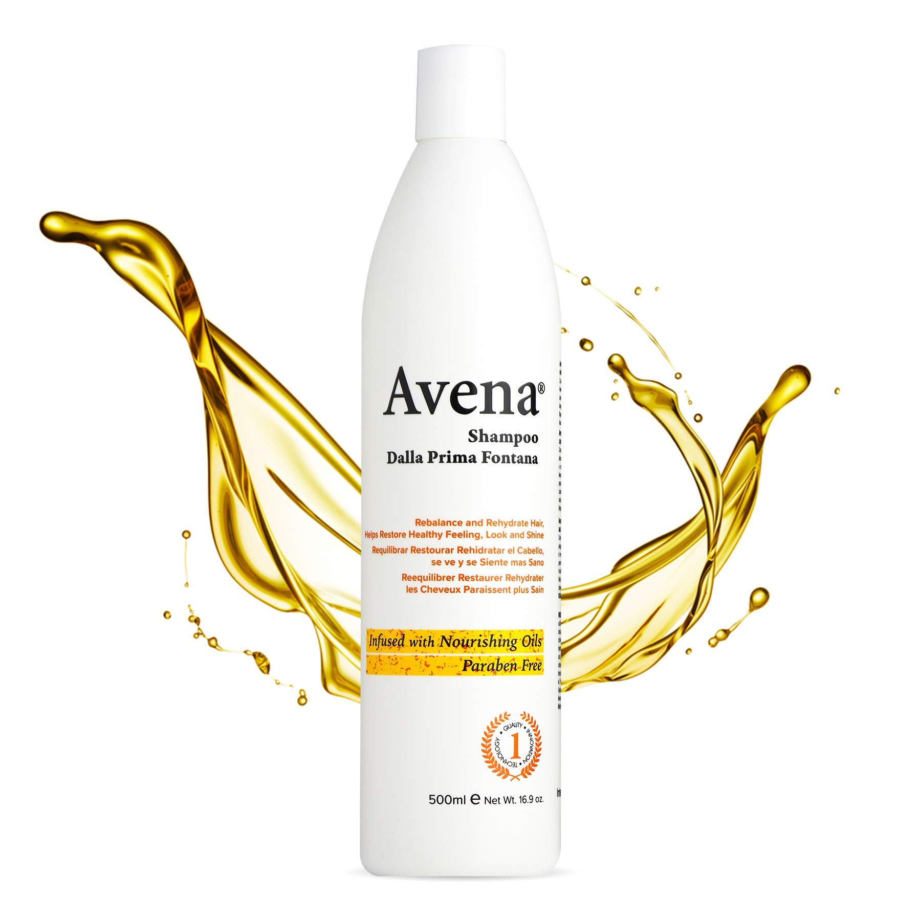 Avena Numero 1 Paraben-Free Shampoo for Colored or Chemically Treated Hair   Infused with Botanical Nourishing oils - Re-Store and Re-balance Natural Shine   Heat protectant   For All hair Types