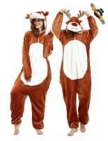 CASABACO Reindeer Onesie Women Deer Pajama Adult Halloween Costume Men Christmas