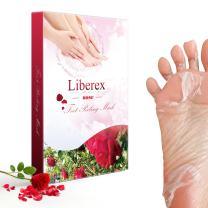 Liberex Exfoliating Foot Peeling Mask - 2 Pairs Peel Booties for Callus Dead Skin, Get Soft Touch Smooth Feet in 1 Week, Repair Rough Heels for Men Women