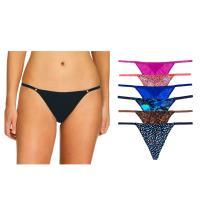 Undies.com Women's Microfiber String Thong 6 Piece Underwear