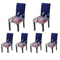 SoulFeel Stretch Spandex Dining Room Chair Protector Slipcovers, Set of 6 (Style 42, Dreamcatcher)