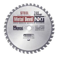 MK Morse CSM72540NSC  Metal Devil NXT Circular Saw Blade, 7-1/4-Inch Diameter, 40 Teeth, 5/8-Inch Knock-out Arbor, for Steel Cutting
