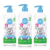 DAPPLE Baby Lotion, Lavender Lotion, Plant Based, Hypoallergenic, 16.9 Fluid Ounces (Pack of 3)
