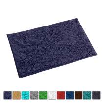 LuxUrux Bath Mat-Extra-Soft Plush Bath Shower Bathroom Rug,1'' Chenille Microfiber Material, Super Absorbent Shaggy Bath Rug. Machine Wash & Dry (20 x 30, Blue-Purple)