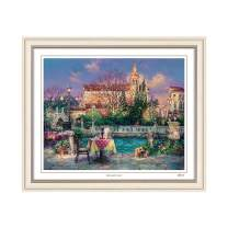 "Cao Yong Print Artwork - Licensed Copy of CAO Youg Masterpiece - (Pleasant Day) Decorative Painting with Solid Wood Frame, Wall Art Decor Poster for Home and Office - 17 3/4"" X 22 2/5"""