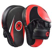 Focus Mitts and Pads for Muay Thai, Curved Boxing Punch Mitts, Boxing Sparring Training Pads Target Training Hand Pads for Kids, Men &Women