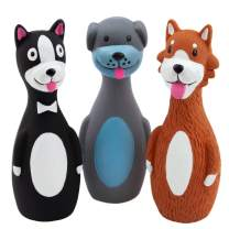 Chiwava Squeaky Latex Rubber Dog Toys for Small Medium Large Dogs Interactive Fetch Play