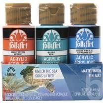 FolkArt 6 Color, Matte Acrylic Paint Set, 2oz, Under the Sea