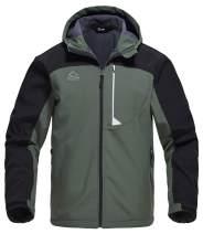 Rdruko Men's Outdoor Softshell Jacket Fleece Lined Waterproof Tactical Hiking Climbing Hooded Jacket