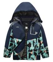 ZSHOW Boy's Hooded Ski Jacket Outdoor Waterproof Winter Fleece Lined Snow Coat