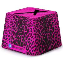 Mini Portable Wireless Speaker/Bluetooth for iPhone, iPad, iPod, Tablets, Computer, Laptop, PSP, Includes Built-in Rechargeable Battery, Great Gift idea (Pink Leopard)