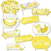 Funny Let's Go Bananas - Tropical Party Photo Booth Props Kit - 10 Piece