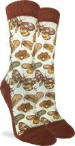 Good Luck Sock Women's Moths Socks - Brown, Adult Shoe Size 5-9