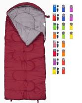 REVALCAMP Sleeping Bag for Cold Weather - 4 Season Envelope Shape Bags by Great for Kids, Teens & Adults. Warm and Lightweight - Perfect for Hiking, Backpacking & Camping