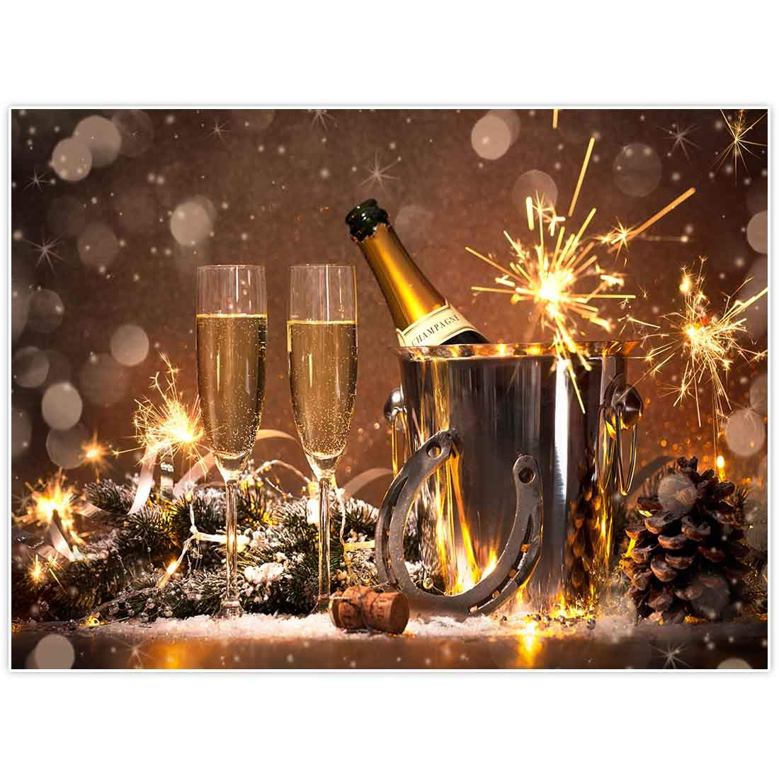 Allenjoy 8x6ft New Year Party Backdrop NYE Supplies Bokeh Golden Glitter Annual Events Family Home Decorations Celebration Festival Photoshoot Props Photography Background Favors Photo Booth Banner
