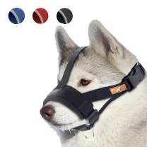 wintchuk Soft Dog Muzzle for Small, Medium and Large Dogs,Anti Biting, Chewing,Adjustable Neck and Head Strap,Breathable