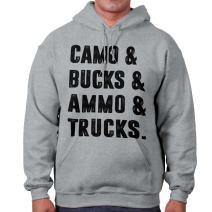 Camo Bucks Ammo and Trucks Southern Hunter Hoodie