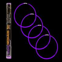 50 Pack - 22 Inch Glow Sticks Necklace in Bulk Wholesale - Glow Necklace Party Favor - Purple