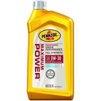 Pennzoil 550053576 Maximum Power Full Synthetic 0W-30 Motor Oil, 1 Quart, 6 Pack
