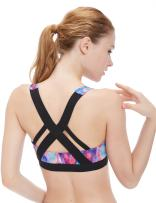 icyzone Women's Workout Yoga Clothes Activewear Racerback Strappy Sports Bras