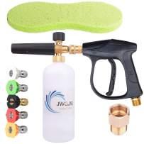 JWGJW 168 High Pressure Washing kit it Includes Washer Gun Snow Foam Lance Cannon Foam , M22 Thread Adapter , 5 Nozzle Tips,A Sponge Brush