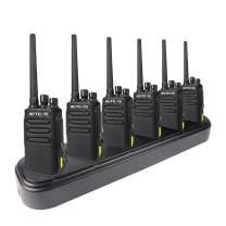 Retevis RT81 UHF DMR Two Way Radio IP67 Waterproof Walkie Talkies High Power Digital Analog 32 Channels Ham Radio(6 Pack) with Six Way Gang Charger