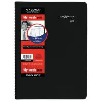 """AT-A-GLANCE G52000-18 DayMinder Weekly Appointment Book/Planner, January 2018 - December 2018, 8"""" x 11"""", Black (G52000)"""