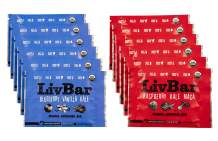 LivBar Organic All Natural Macro Snack Bar - Berry Nice Variety Pack, 12 Count - Healthy & Delicious Non GMO Gluten, Nut, Soy, and Dairy Free Protein Bar with Low Sugar