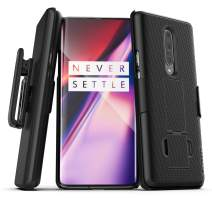 Encased OnePlus 7 Pro Belt Clip Case (DuraClip Series) Combo Shell with Holster - Black (2019 Release)
