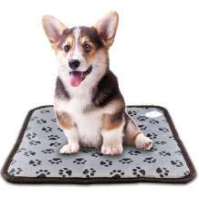 "Sumpol Pet Heating Pad, 17.7"" x 17.7"" Dog Cat Electric Heating Pad Indoor Waterproof Adjustable Dog Bed Warmer Warming Mat with Chew Resistant Steel Cord"