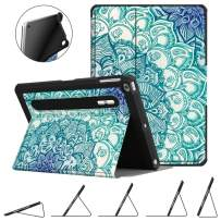 Fintie Case for iPad 9.7 2018 2017 / iPad Air 2 / iPad Air - [Corner Protection] Multi-Angle Viewing Rugged Soft TPU Back Cover with [Secure Pencil Holder] Auto Sleep/Wake, Emerald Illusions