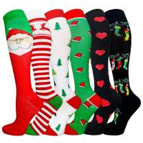 Compression Socks for Women & Men 20-30mmHg Best Knee High Stockings for Running Nurses Hiking Cycling Recovery