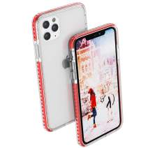 EFFENX iPhone 11 Pro Max Case - Thin Slim Protective Heavy-Duty Case with Soft Red TPU Bumper Anti-Yellow Anti-Scratch Anti-Slippery Cover for iPhone 11 Pro Max 6.5inch - Red