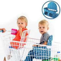 Buggy Bench Shopping Cart Seat Carrier (Navy Blue) The Original for Baby, Toddler, Twins, and Triplets (Up to 40 Pounds)