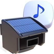 Htzsafe Solar Driveway Alarm System-1/4 Mile Long Transmission Range-Solar Powered No Need Replace Batteries-Outdoor Weatherproof Motion Sensor&Detector DIY Security Alert System