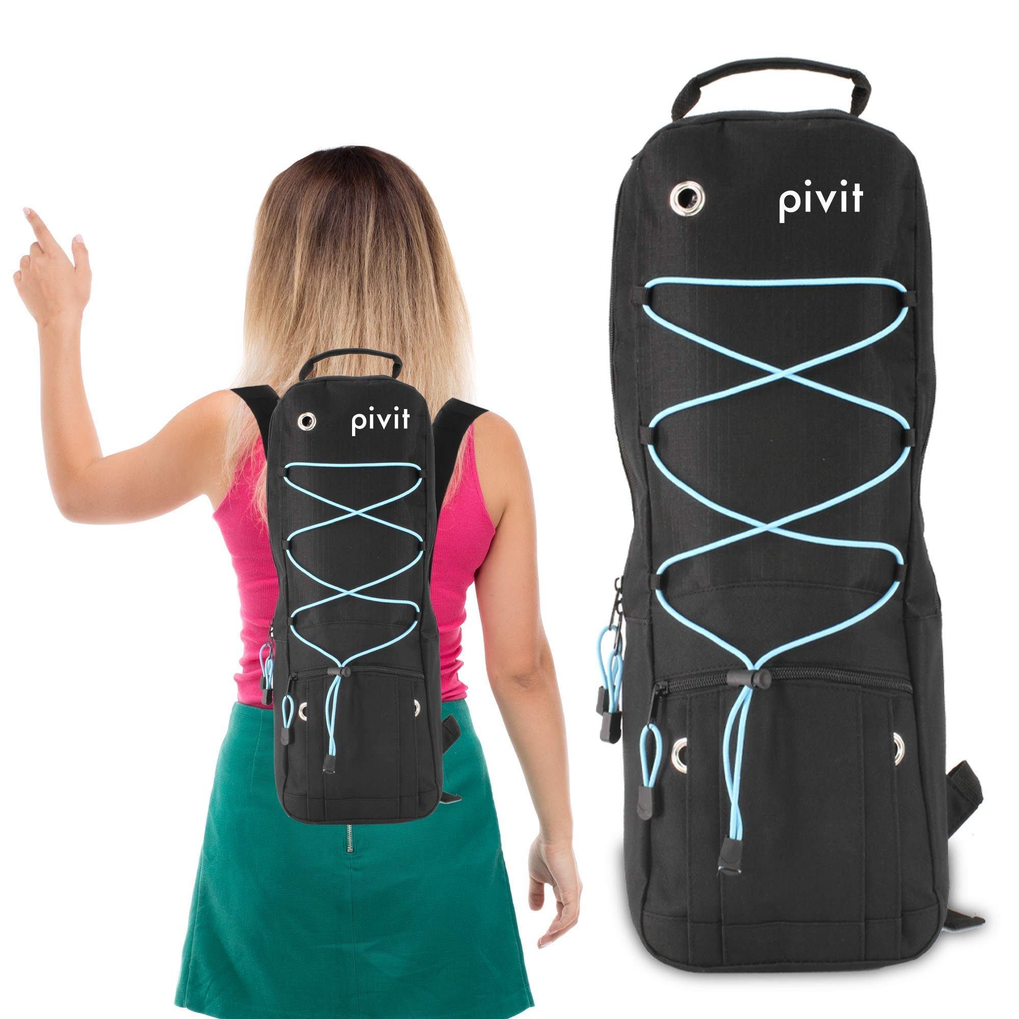 Pivit Oxygen Cylinder Tank Backpack | Fully Adjustable Carrying Accessories Bag for D Cylinders | Medical Holder Case for Wheelchair Shoulder Rollator Walker Scooter | Portable Travel Storage Carrier