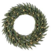 Vickerman Multi-colored LED Lights Frosted Bellevue Alpine Artificial Christmas Wreath, 48-Inch